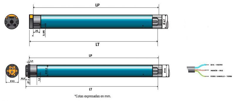 Motor-Somfy-Sunea-Screen-IO-tubos