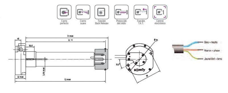Motor-Somfy-Sunea-50-CSI-RTS-tubos